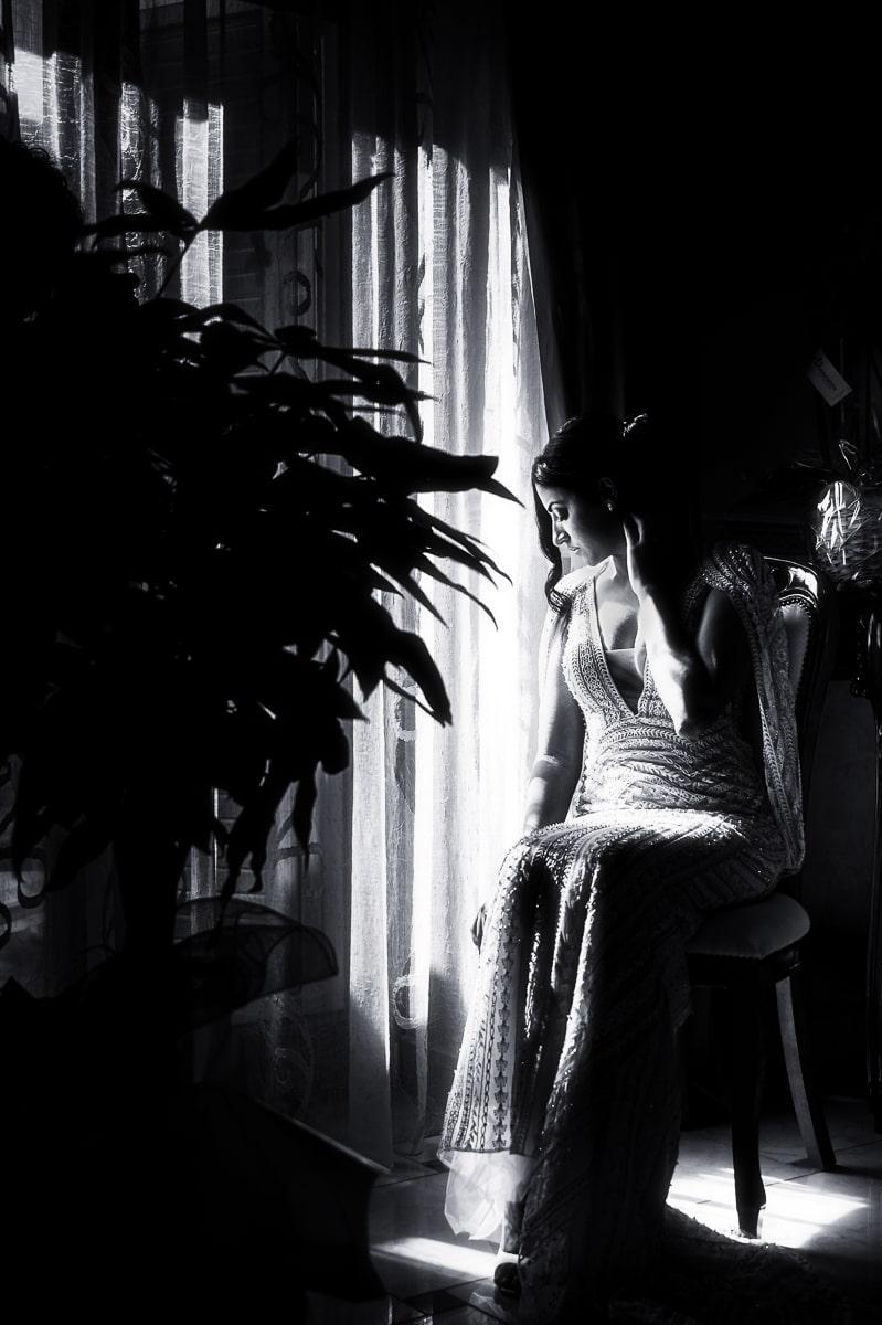 foto sposa black white